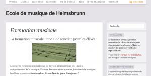 Nouveau site pour l'école de musique de Heimsbrunn