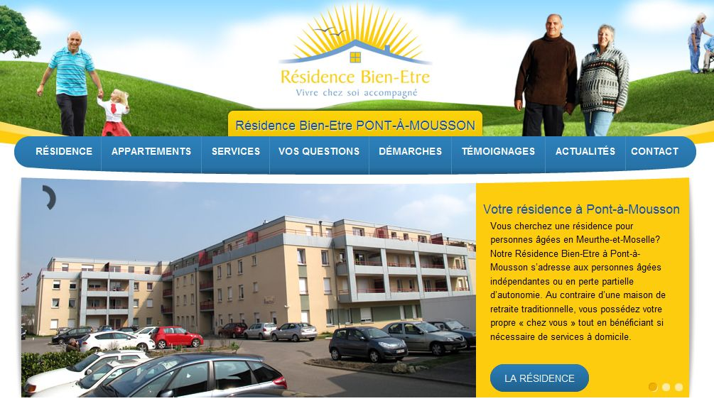 Site de la Résidence Bien-Etre de Pont-à-Mousson