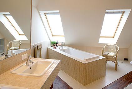 Plafond tendu salle de bain