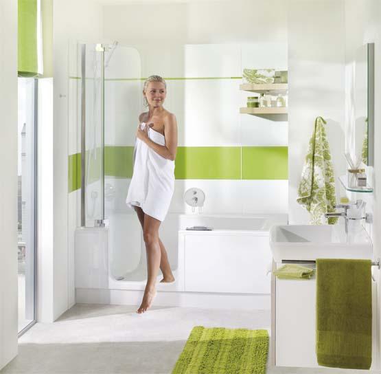 Un combiné baignoire et douche à la fois