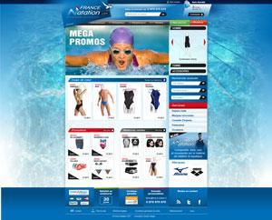 Site www.france-natation.com - Vente en ligne de maillots de bains
