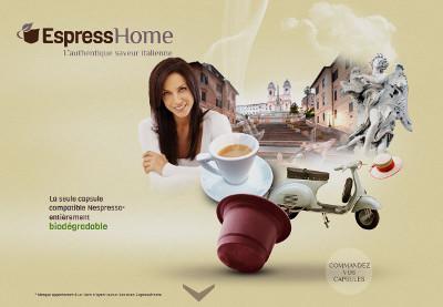 Vente de capsules Espresso sur le site Espresshome.com
