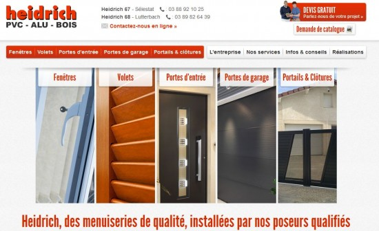 Site web des Menuiserie Heidrich