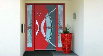 Porte d'entrée par les Menuiserie Heidrich