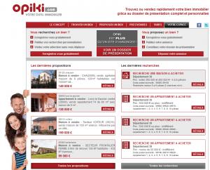Opiki.com site d'annonces immobilières